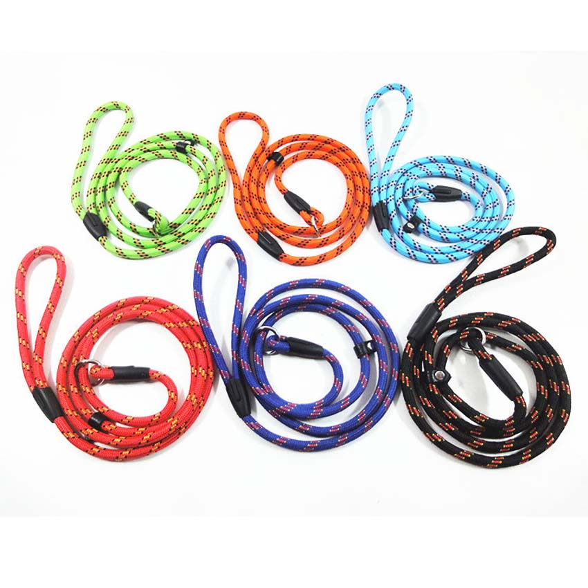 Nylon Dog Collars vada ilgstošu treniņu Pet Lead Rope 140cm Strong Nylon Dog Puppy Leash Cat Leads suņu troksnis Pastaigas Pet Products
