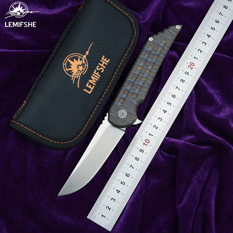 LEMIFSHE L25 Flipper folding knife s35vn steel TC4 Titanium handle outdoor camping hunting pocket kitchen fruit knives EDC toolsLEMIFSHE L25 Flipper folding knife s35vn steel TC4 Titanium handle outdoor camping hunting pocket kitchen fruit knives EDC tools