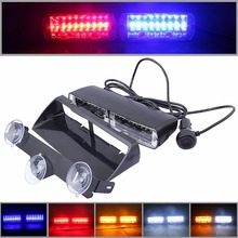 цена на  48W Windshield Led Strobe Light S2 Viper Car Flash Signal Emergency Fireman Police Beacon Warning Light Red Blue Amber White