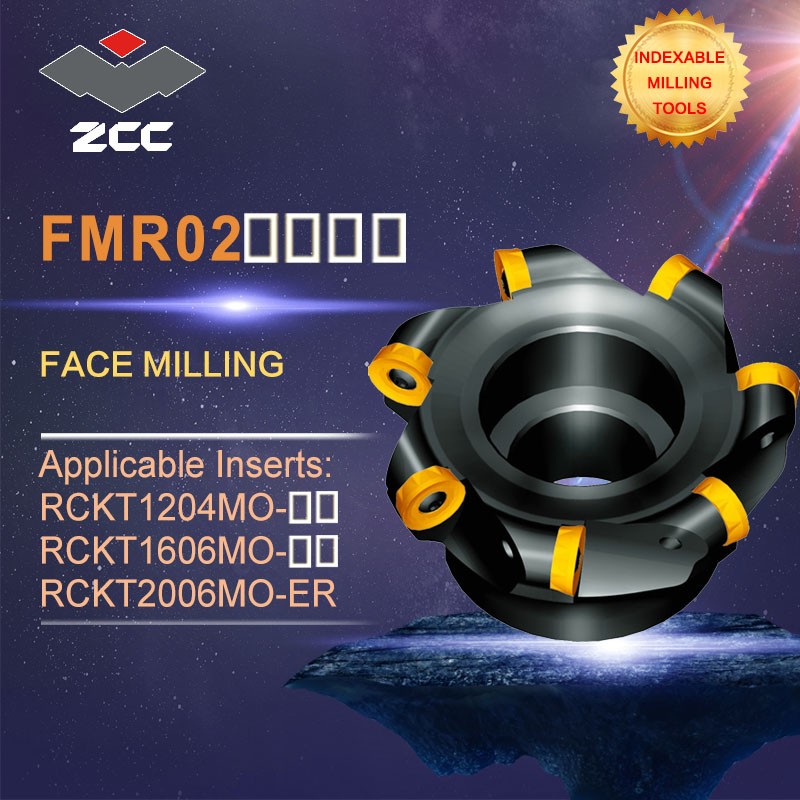 ZCC CT original face milling cutters FMR02 high performance CNC lathe tools indexable milling tools face