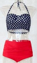 swimwear female swimming suit for women bikini High Waist 2016 Crop Top Brazilian Tankini Set Maillot De Bain Femme