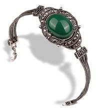 Pulseira grande elegante retrô olhar preto cristal jóias acessórios preto sexta-feira pulseiras para mulheres