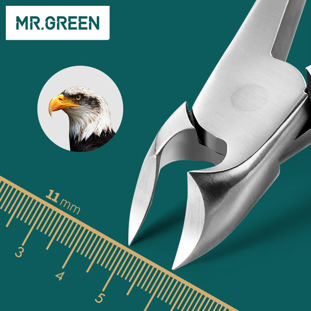 MR.GREEN Toe New Professional Stainless Steel Manicure Trimmer Art Pliers Cuticle Scissors Nail Clipper The Nail Cutter 4
