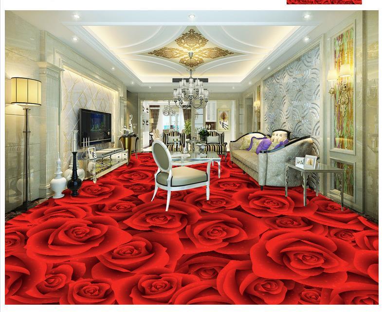 Photo piano wallpaper 3d stereoscopico 3d rose soggiorno camera da