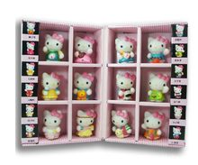 Free shipping Hello Kitty KT cat Japanese Anime Figures 12pcs/set Constellation gift box ornaments Collection Hand to do gifts(China)