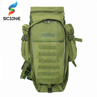 Scione Nylon Waterproof Military Tactical Backpack 60L Folding Rucksack for Man Outdoor Sport Camping and Hiking Climber Bag