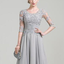 Graceful A-Line Knee Length Mother Of the Bride Dre