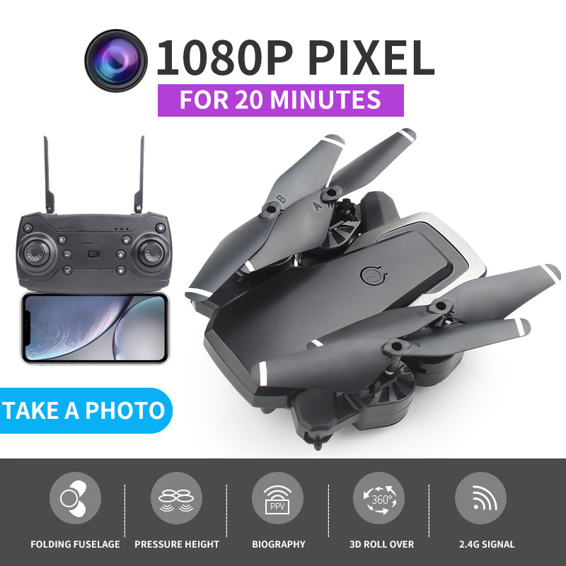 Drones With Camera Hd 1080P  Folding RC Quadcopter FPV Wifi Cheap RC Helicopters Wireless Aircraft Storage Bag Gift Toys
