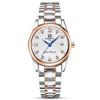 Новые простые часы лучший бренд карнавал кварцевые часы Для женщин Часы с Календари 30 м Водонепроницаемый синий Шпильки модные Повседневно