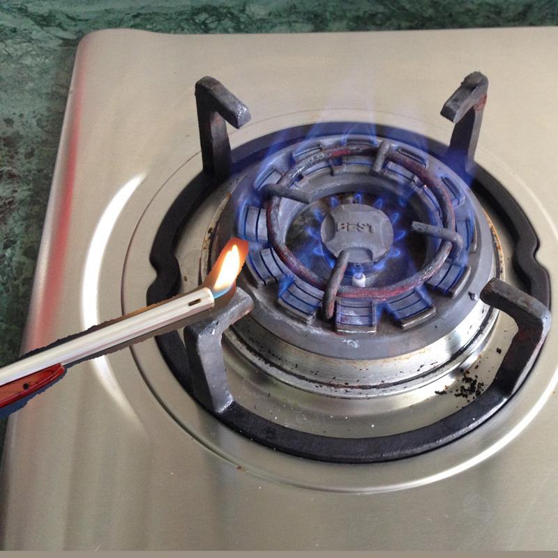 Gun Bentuk Dapur Gas Ringan Butana Isi Ulang Pistol Korek Api Untuk Rokok Logam Panjang Elektronik Keren Gadget Di Pematik Dari Rumah Taman