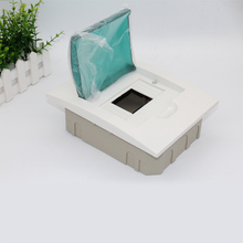 Panel Mount 6 way Waterproof Plastic cover and base distribution box / plastic lighting box/mini circuit breaker for office