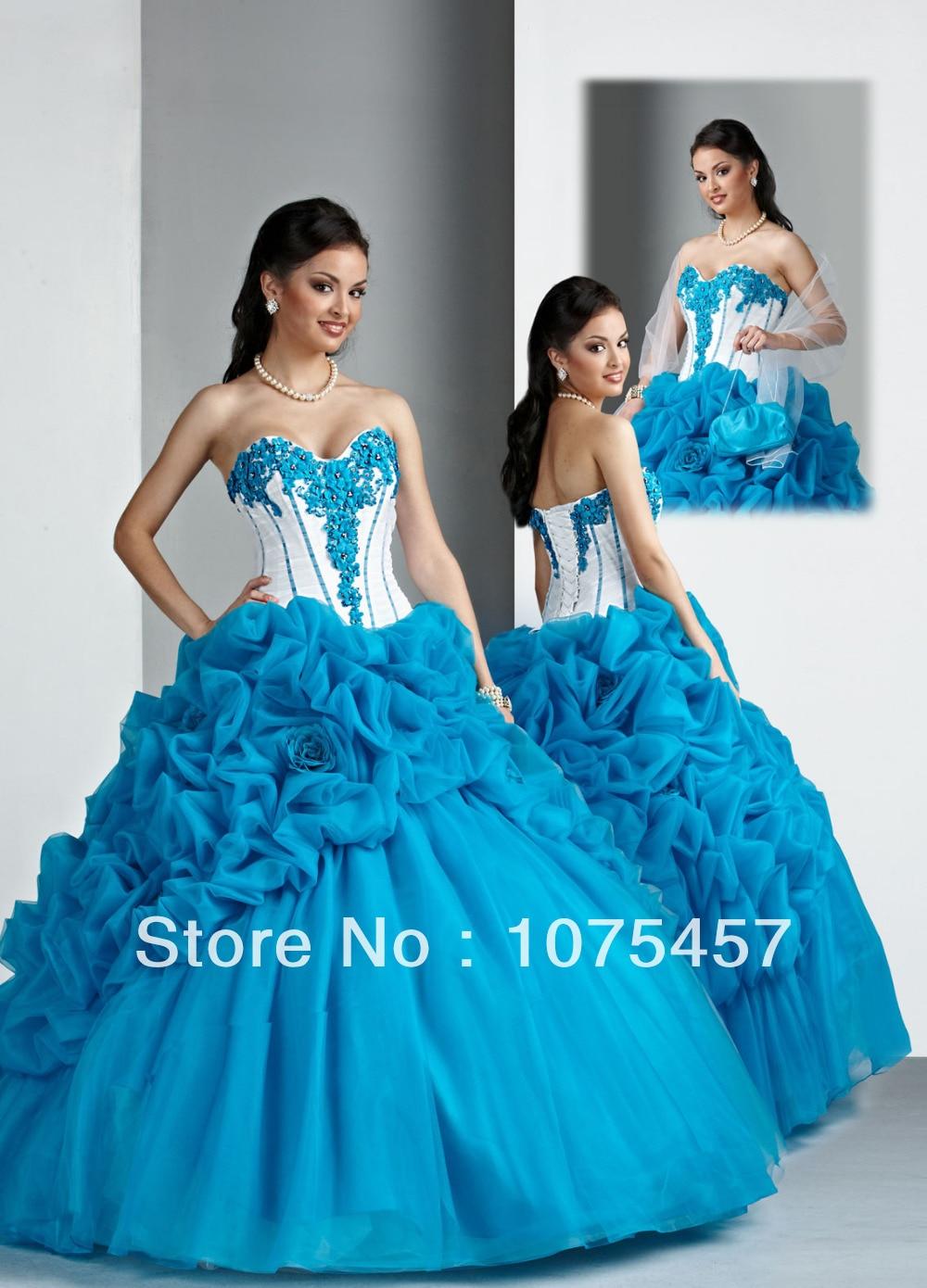 c5d81bdb4a Vestidos de quinceanera blanco con azul - Vestidos elegantes