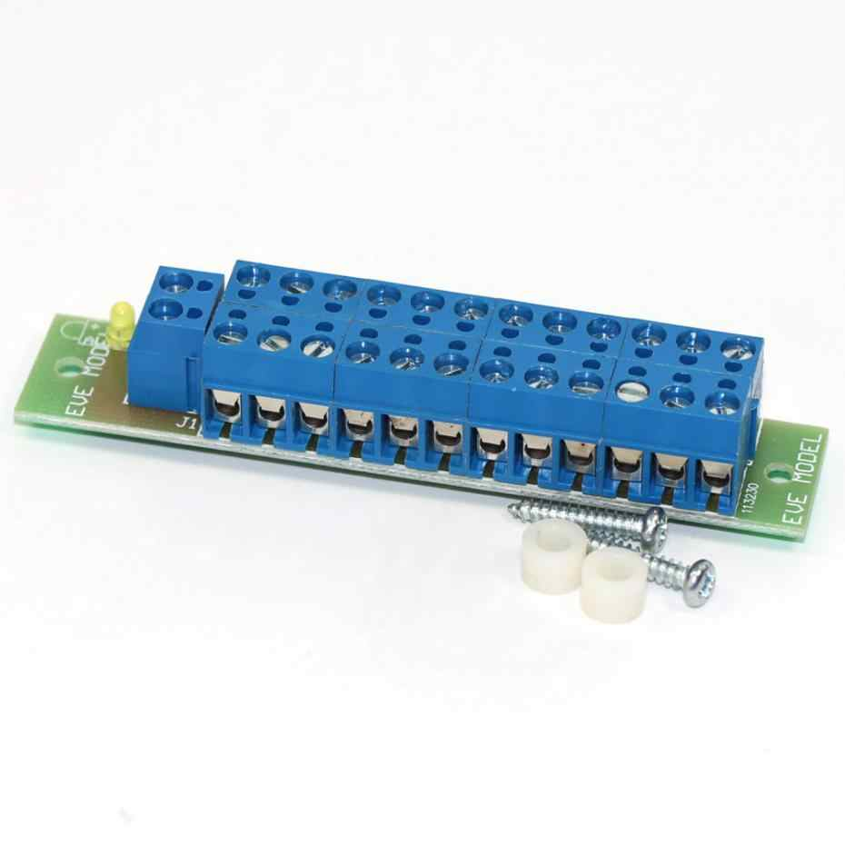 New 1 Set Power Distribution Board With Status LEDs for DC and AC Voltage  model train ho scale PCB001 railway modeling