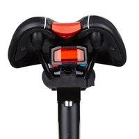 Alarme sem fio da bicicleta bell luz traseira usb recarregável ciclismo led lâmpada de controle remoto luz da bicicleta acessórios|Luz de bicicleta|   -