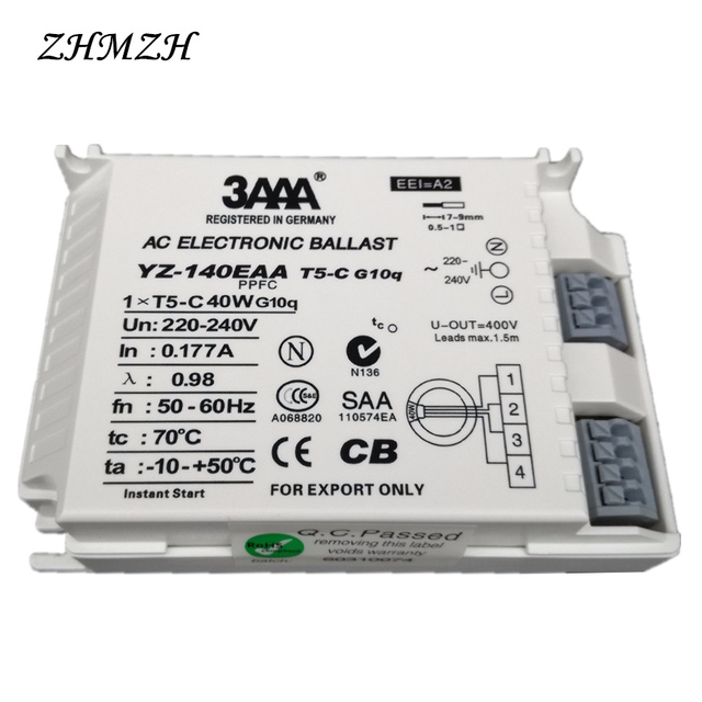 3AAA YZ140EAA YZ155EAA 40W 55W T5-C Electronic Ballast 220V AC G10q Fluorescent Lamp Rectifier For T5 Ring Lamp Annular Tubes