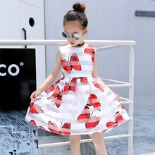 latest children dress designs Girls summer Chiffon Sleeveless Butterfly Dresses kids clothes Girl casual Children Dress