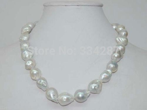 100% Venta de Imagen nuclear completo Barroco 12-14mm Natural collar de perlas Envío gratis