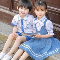 Kindergarten summer children's class clothing national wind primary school uniforms Hanfu summer graduation clothing suit