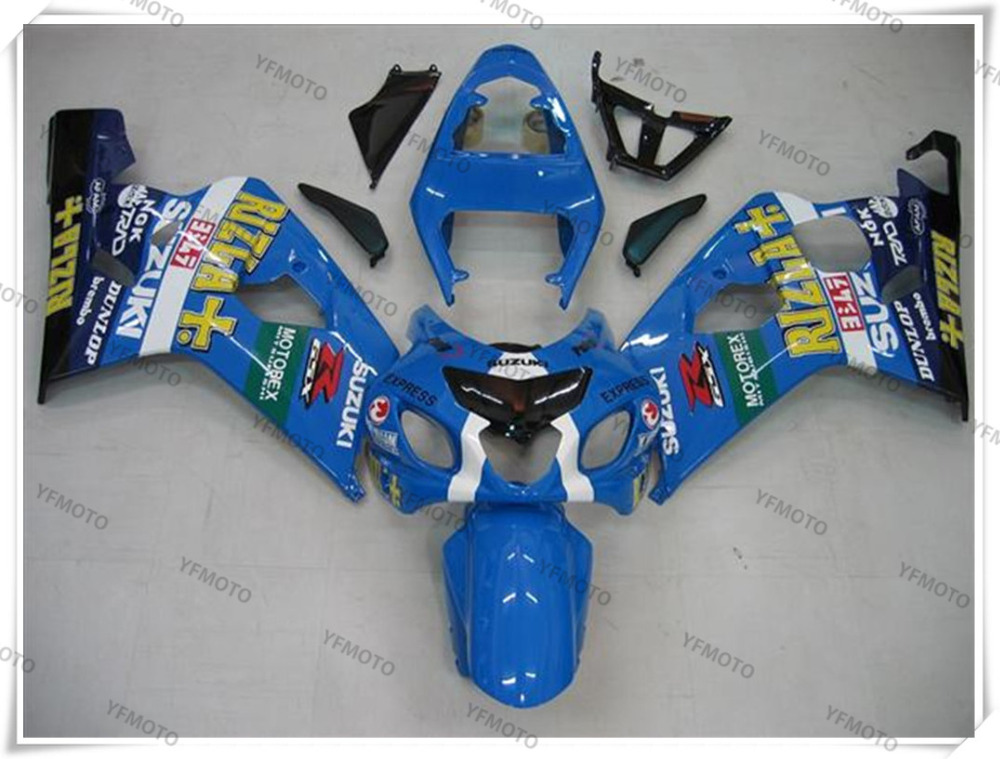 Motorcycle Puig Sky Blue Fairing Body Work  Cowling For SUZUKI GSXR600-750 GSXR 600 750 K4  2004-2005 +4 Gift 2015 66 yasiel puig 100