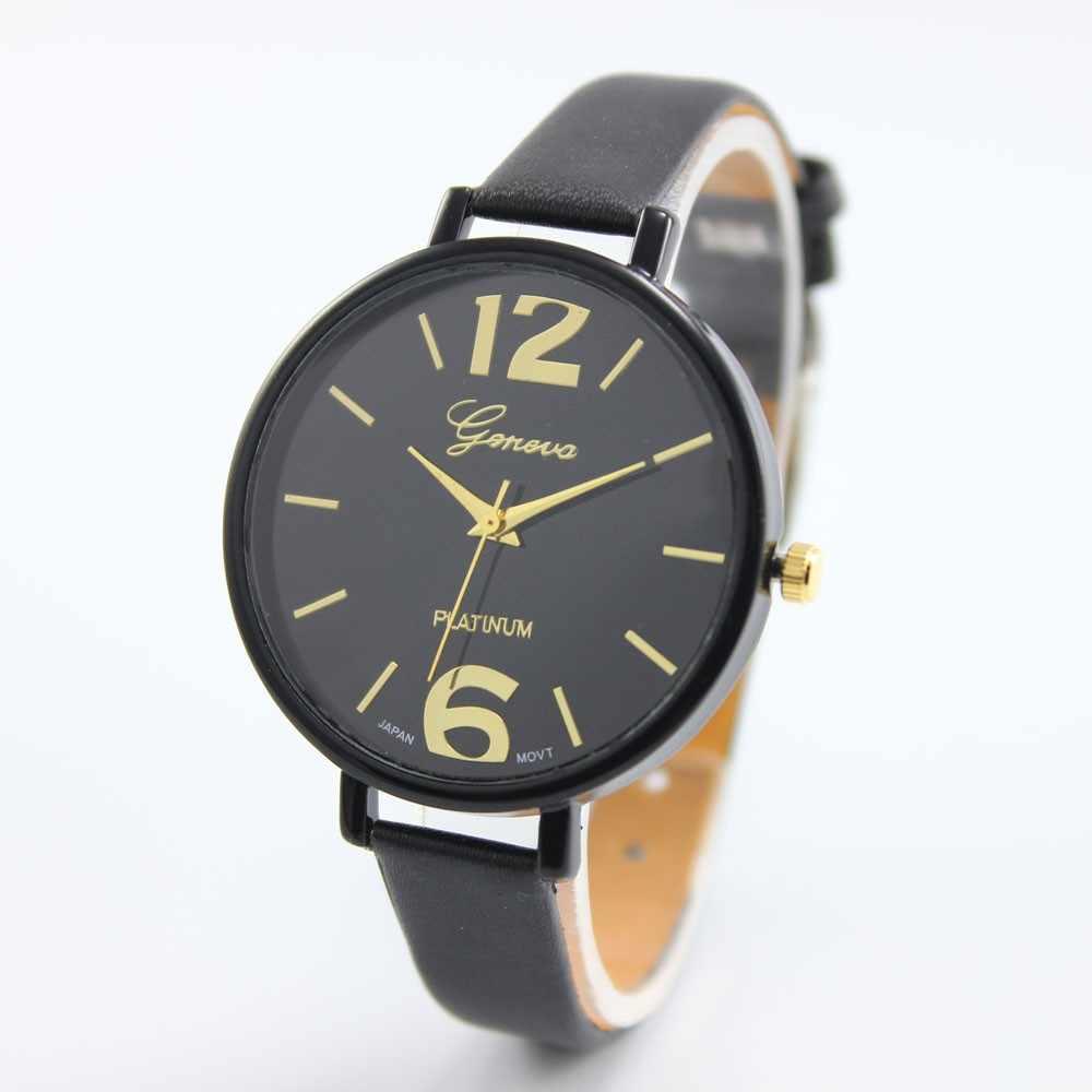 Women Watches Fashion Quartz Watch Faux Leather Wrist Watch Women's Dress Hours Geneva Simple Watch Relogio Feminino Gift Girls