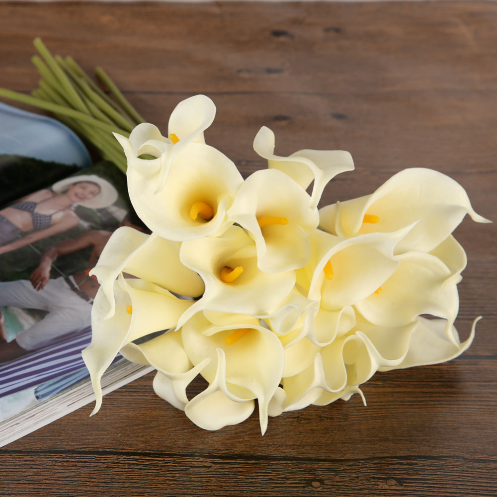 10pcs Artificial Flowers Cheap Latex Calla Lily For Home Decoration