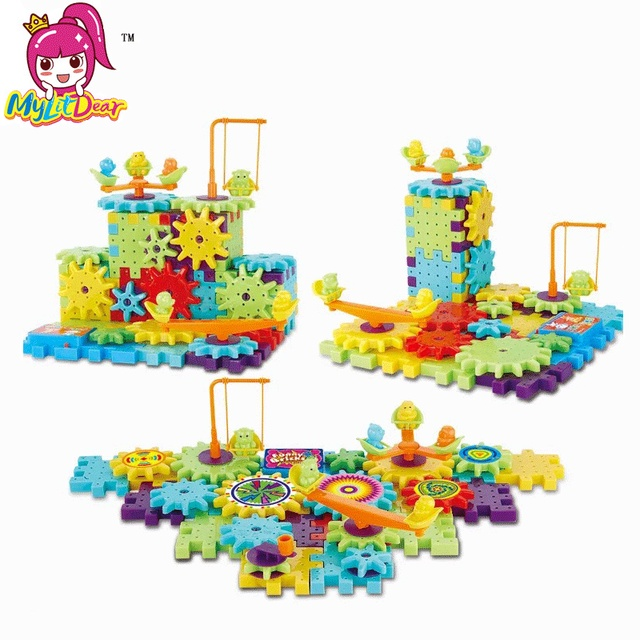 31463146 US $9.88 20% OFF|Mylitdear 81pcs Children's Plastic Building Blocks Toys  Kids DIY Creative Educational Toy Gear Blocks Toys Model Building Kit-in ...