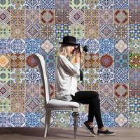 Arabische Stijl Tegelstickers Keuken Muursticker Waterdichte PVC Behang Woondecoratie Mozaïek Wandtegels Stickers Taille Lijn 3