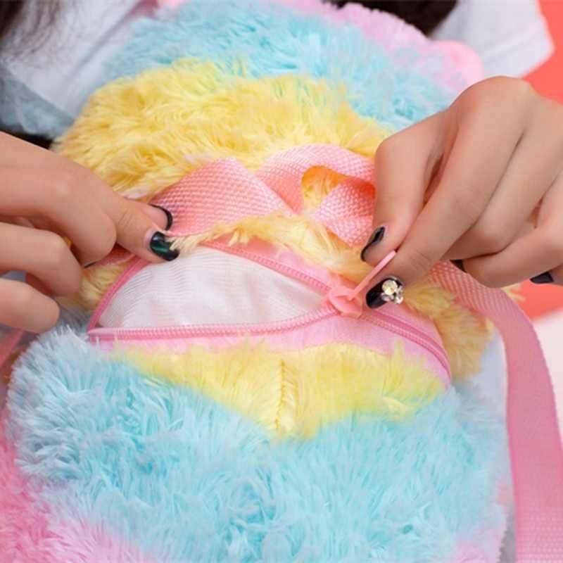 Lucu Mewah Alpaca Ransel Jepang Kawaii Kelinci Ransel Boneka Rabbit Mainan Anak Sekolah Tas Hadiah Mainan Anak untuk Gadis