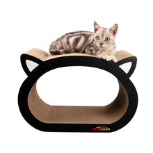 Cat head-Cat Scratcher Fat Bed Cardboard Paper High Quality Toy Scratching Pad