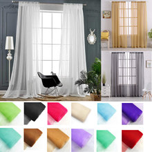 Modern Living Room Tulle Curtains Solid,Bedroom Window Tulle Curtains Sheers,Europe Tulle Curtains Voile Treatments Drapes(China)