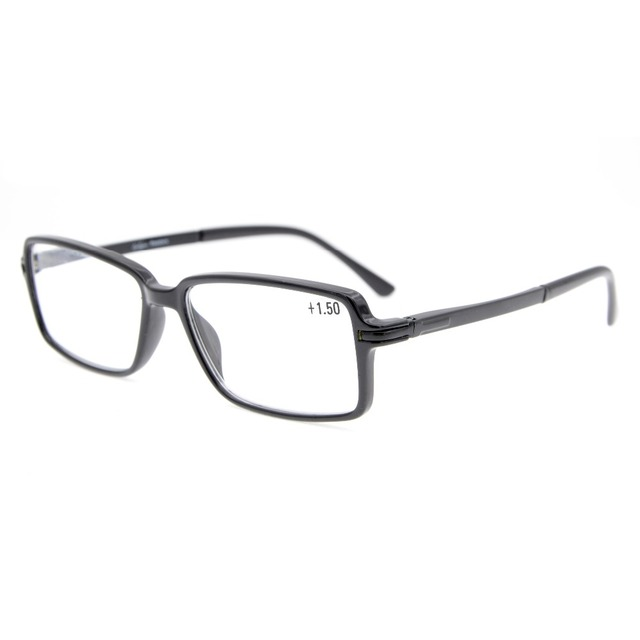 d9c97b023d43 TR006 Eyekepper Classic Rectangle TR90 Frame Spring Hinges Reading Glasses  Stylish Crystal Clear Vision +0.50---+3.00
