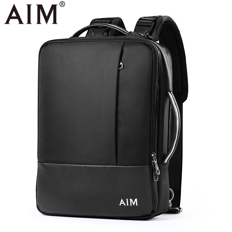 AIM Multifunction Canvas Backpack Men Women Bolsa Mochila for Notebook Computer Rucksack School Bag Backpack for Teenagers D010 canvas men s backpack bag teenagers laptop notebook mochila for men waterproof back pack school backpack bag casual daypack