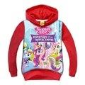 Bebé Niñas camisetas de los Hoodies de 2016 Nuevo Rojo de La Llegada Mis Hijos Pequeños Pony Camisas de Manga Larga Tops Otoño Ropa Para 3-9 Años GT42
