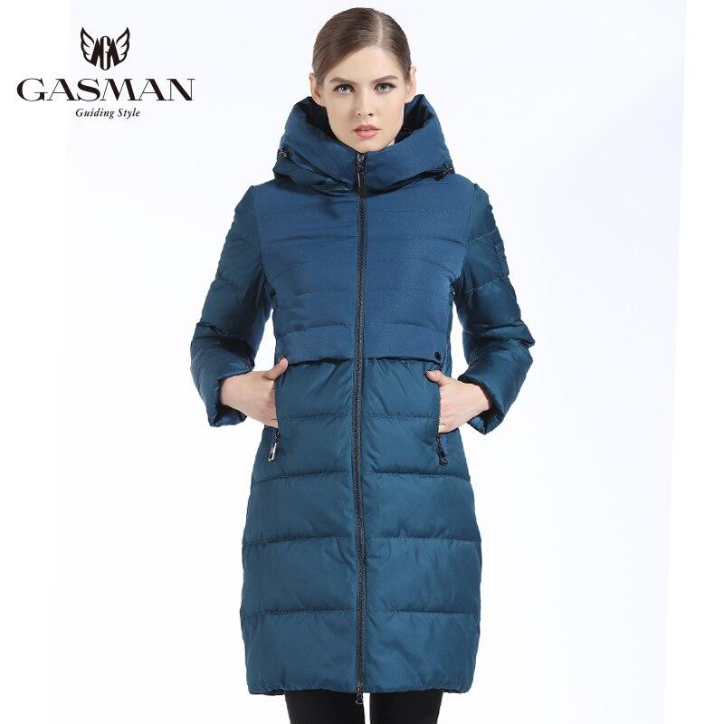 GASMAN 2018 Winter Outwear Coat Long Women Bio Down   Parka   Thickening Hooded Jacket Down For Women Slim Style Cloth Winter Women