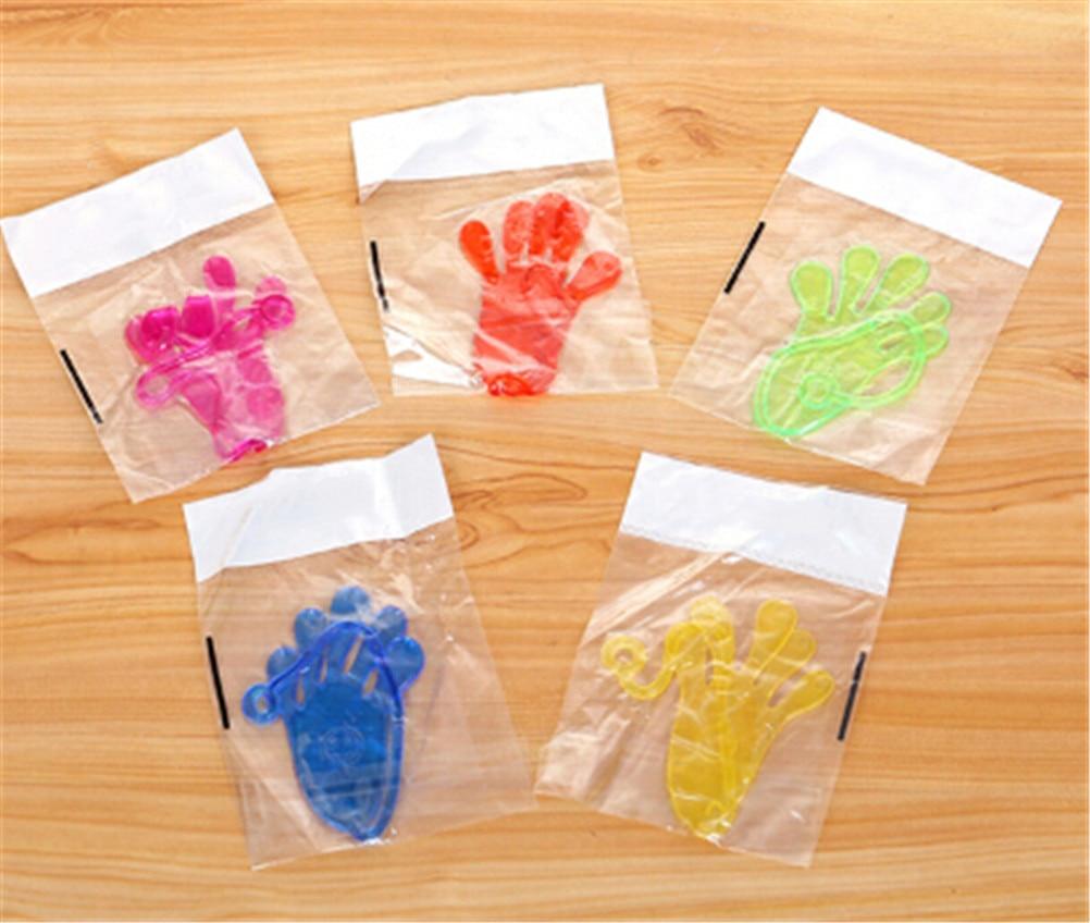 5Pcs Random Kids Sticky Hands Palm Elastic Sticky Squishy Slap Hands Palm Toy Children Kids Party Favors Novelty Gift Fun Jokes