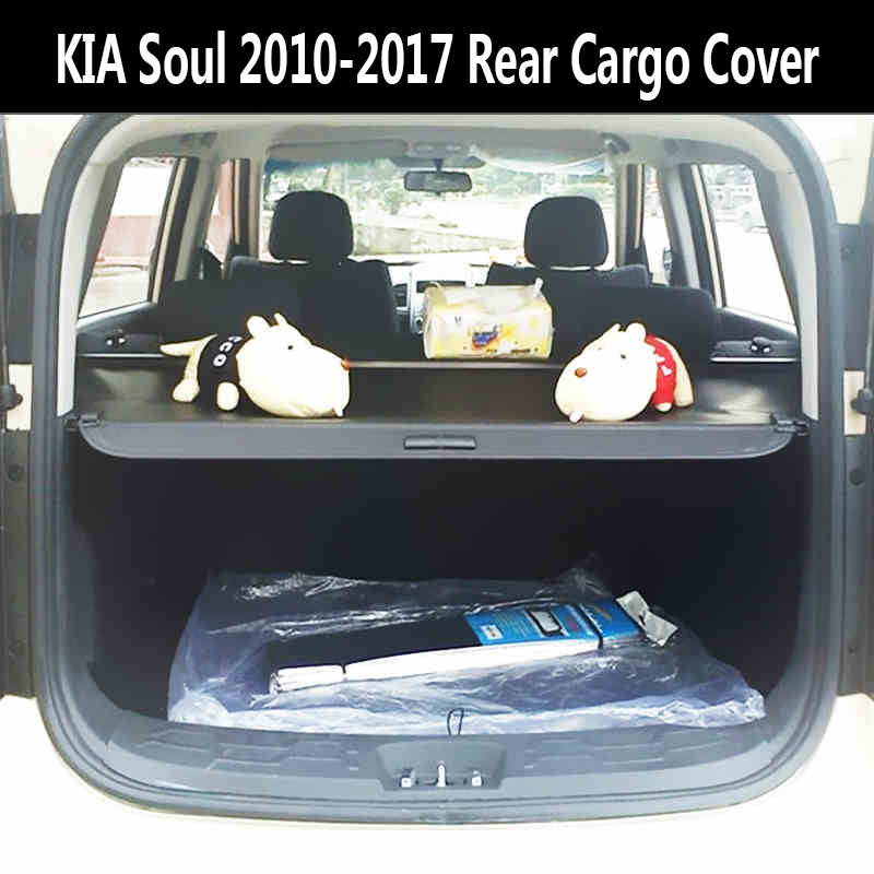 Kia Soul Accessories >> For KIA Soul 2010 2017 Rear Cargo Cover privacy Trunk Screen Security Shield shade (Black, beige ...