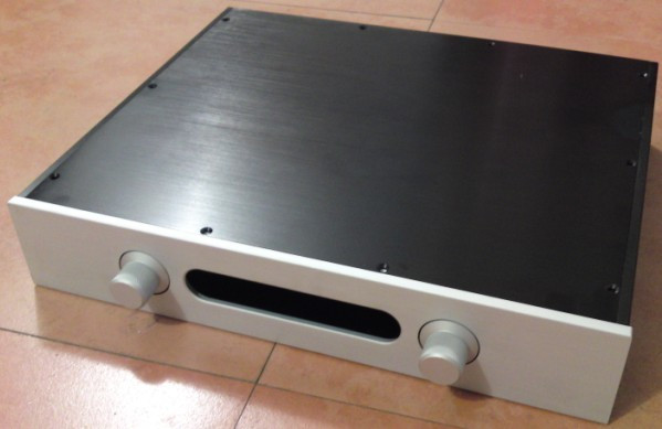 DIY amplifier case 430*80*358mm 4308 All aluminum amplifier chassis/Preamplifier case/AMP Enclosure /Pre-amp case / DIY box case size 360 80 268mm bz3608a the new silver aluminum amplifier chassis pre amplifier chassis amp case enclosure box diy
