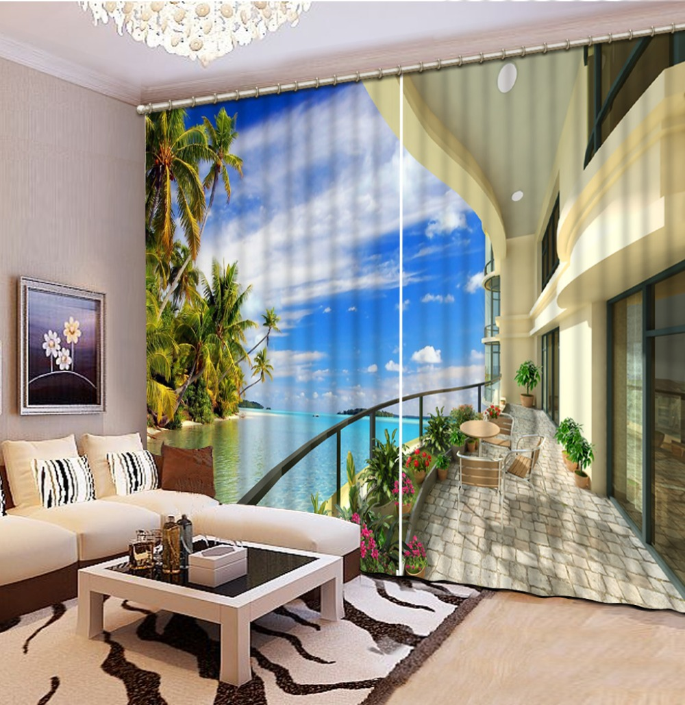beach themed living room curtains. that definitely makes me think
