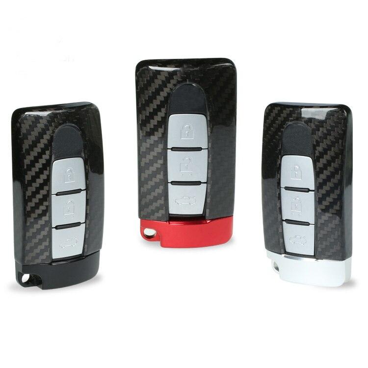 TTCR II Carbon Fiber Smart Remote Key Fob Case Bag Key Shell Holder Cover For NISSAN