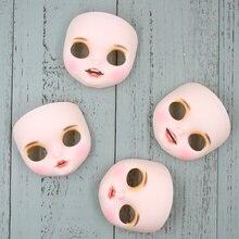 ブライス人形の口オープンフェイス含むバックプレートとネジ、唇彫刻、歯、舌