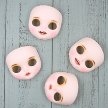 Blyth doll Mouth Open Face plate including the back plate and screws,lips carved,with teeth,with tongue