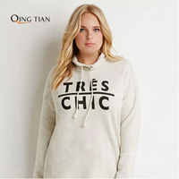QING TIAN Plus Size New Fashion Women All Match Big Large Size Streetwear Autumn Letter Print