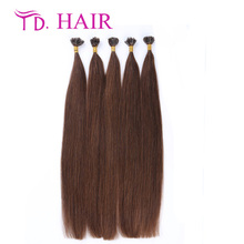 #4 brazilian human hair stick 7A grade keratin hair extension 14-26inch in stock u tip hair extensions wholesale free shipping