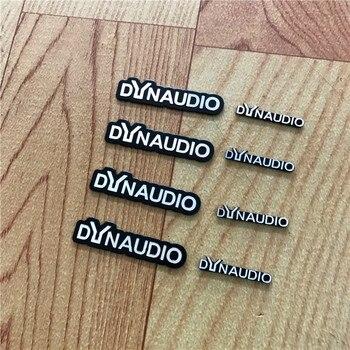 10X DYNAUDIO רמקול אלומיניום 3D מדבקת חצוצרת צופר צליל מכתב מדבקות רכב סטיילינג עבור פולקסווגן פולקסווגן CC חדש חיפושית
