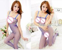 Hot Sale Women Mesh Fishnet Sexy Lingerie Body Stocking Porn Bodysuit Crotch Erotic Teddy Catsuit font