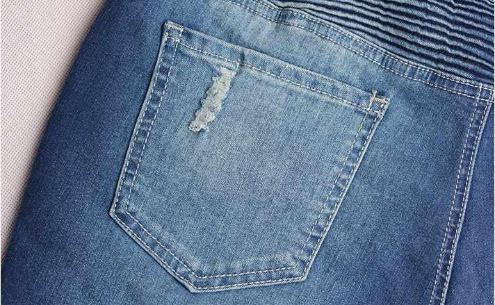 CatonATOZ 2077 Женская мода Панк мотоциклах стрейч Slim Fit рваные джинсовые штаны обтягивающие джинсы для женщин