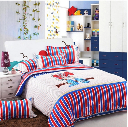 Boy S Quilt Duvet Cover Bedding Sets Single Or Double: 100 Cotton Transformer Kids Bedding Set Boys Fitted Sheet