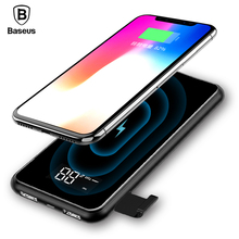Baseus 8000mAh QI Wireless Charger Power Bank For iPhone X 8 Plus Portable LCD Powerbank Wireless Charger For Samsung S9 S8 Plus