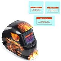 1 PC Solar Power Auto Dimming Durable Safe PP Utility Welding Helmet for Soldering