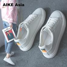 Aike Asia Women Sneakers 2019 Fashion Breathble Vulcanized Shoes Pu leather Platform Lace up Casual White sneaker Tenis Feminino